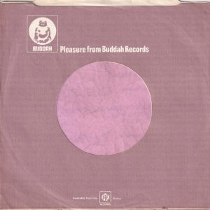 Buddah Records U.K. Company Sleeve 1974 – 1975
