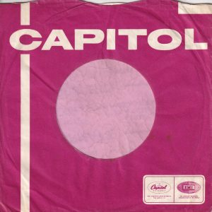 Capitol Records U.K. Company Sleeve 1968