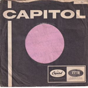 Capitol Records U.K. Company Sleeve 1964 – 1965