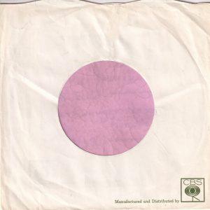 CBS Records U.K. Company Sleeve Distribution Sleeve For Dandilion , Mum's , Dolphin Etc.
