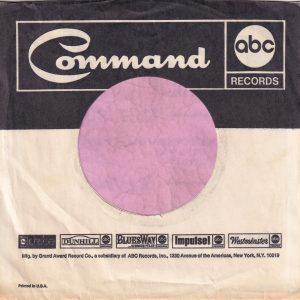 Command U.S.A. ABC Records Probe Dunhill Bluesway Impulse Westminister Company Sleeve 1969 – 1970