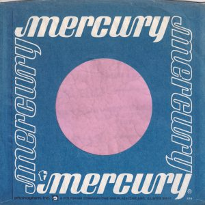 Mercury U.S.A. Company Sleeve 1979 – 1983