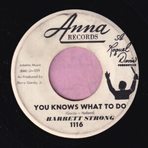 "Barrett Strong "" You Knows What To Do "" / "" Yes, No,Maybe So "" Anna Records Demo Vg+"