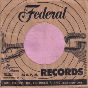 Federal King Deluxe U.S.A. Black Company Sleeve 1953 – 1958