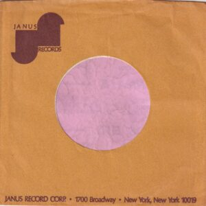 Janus Records U.S.A. 1700 Broadway Address Details Company Sleeve 1969 – 1976