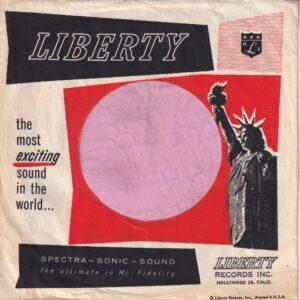 Liberty Records U.S.A. Hollywood 28 Calif. Address Company Sleeve 1957 -1960
