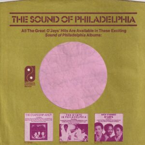 PIR Philadelphia International Records U.S.A. Company Sleeve 1973 – 1975