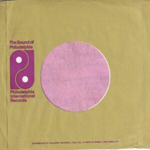 PIR Philadelphia International Records U.S.A. Green Print Columbia Dist. Small Logo Address Details In Upper Case Only Company Sleeve 1971 – 1973