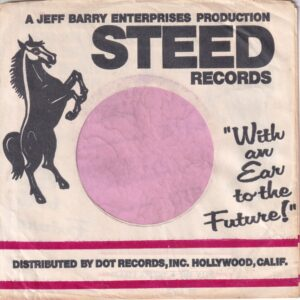 Steed Records U.S.A. Red Lines Large Gap Between Red Bars Company Sleeve 1967 – 1971
