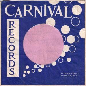 Carnival Records U.K. Company Sleeve 1963 – 1965