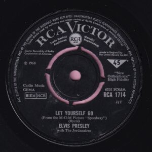 """Elvis Presley """" Let Yourself Go """" RCA Victor Vg+"""