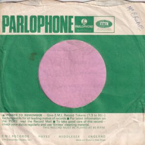 "Parlophone Uk Miners Hit Make-Up Advert  "" Big Hit Now , Lashes "" Company Sleeve 1966 – 1968"