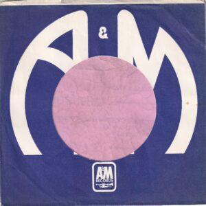A&M Records Canadian Company Sleeve