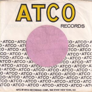 Atco Records U.S.A. With B'Way N.Y. Address On Back , Short Text On Bottom Company Sleeve 1967 – 1971