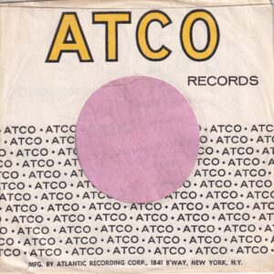 Atco Records U.S.A. With B'Way N.Y. Address On Back , Wide Text On Bottom Company Sleeve 1967 – 1971