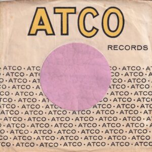 Atco Records U.S.A. No Address Details Records Printed Low Company Sleeve 1957 – 1967