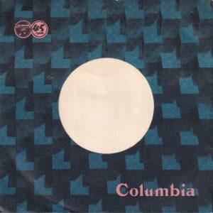 Columbia Records Japan Blue And Black Print Company Sleeve