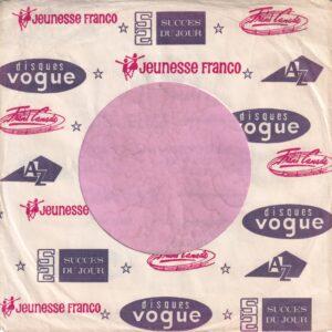 Disque Vogue Canadian Jeunesse Franco Succes Du Jour Trend canada AZ Company Sleeve