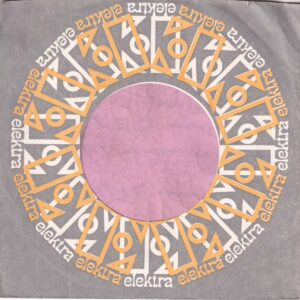 Elektra U.S.A. With Curved Top Yellow And White Print Company Sleeve 1968 – 1970