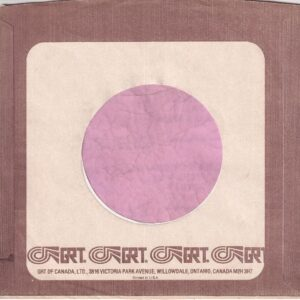 GRT Records Canadian Coffee Border Company Sleeve