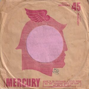 Mercury Records Australia Distr. By Astor Radio Company Sleeve 1955 – 1956