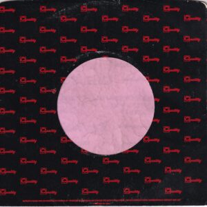 Quality Records Canadian Black And Red Print Company Sleeve