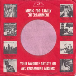 ABC Paramount U.S.A. With Lp Thumbnails Company Sleeve 1961 – 1962