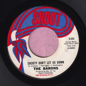 "The Barons "" Society Don't Let Us Down "" Shout Vg+"