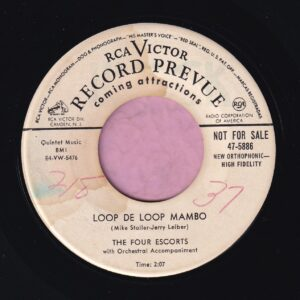 "The Four Escorts "" Loop De Loop Mambo "" R.C.A. Victor Demo Vg+"