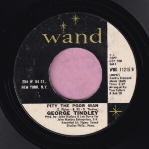 "George Tindley "" Pity The Poor Man ""  Wand Demo Vg+"
