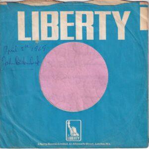Liberty U.K. Company Sleeve 1967 – 1970