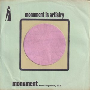 Monument U.S.A. Black Logo , No Address Details , Tan Centre Company Sleeve 1966 – 1970