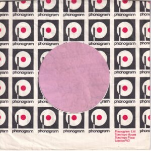 Phonogram U.K. No Box Top Right , London W2 Address Details Company Sleeve 1973 – 1975