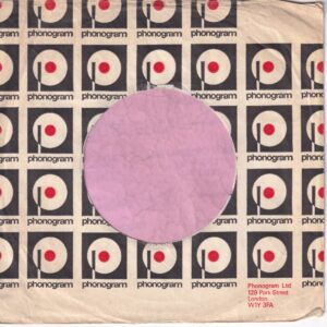 Phonogram U.K. With Box Top Right , London W1Y Address Details Company Sleeve 1977 – 1978