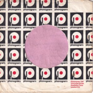 Phonogram U.K. With Box Top Right , London W2 Address Details Company Sleeve 1975 – 1977