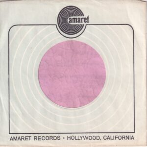 Amaret Records U.S.A. Company Sleeve 1969 – 1971
