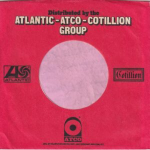 Atlantic Atco Cotillion Group U.S.A. Company Sleeve 1969 – 1971
