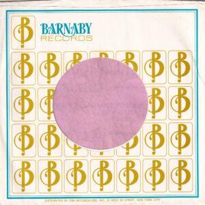 Barnaby Records U.S.A. Company Sleeve 1970 – 1972