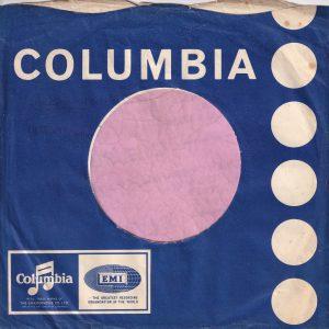 Columbia U.K. Blue Company Sleeve 1968