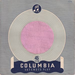 Columbia U.K. Extended Play Company Sleeve 1954 – 1957