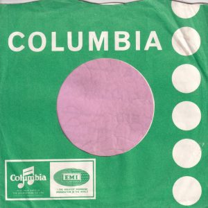 Columbia U.K. 7'3 to 50′ Tokens , Use New Emitex Company Sleeve 1967 – 1968
