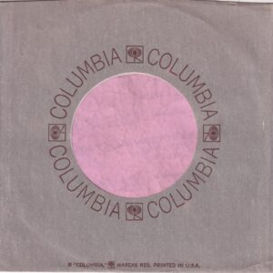 Columbia White Paper Inside U.S.A. Company Sleeve 1969 – 1973
