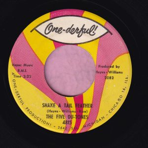 """The Five Du-Tones """" Shake A Tail Feather """" One-Derful ! Vg+"""