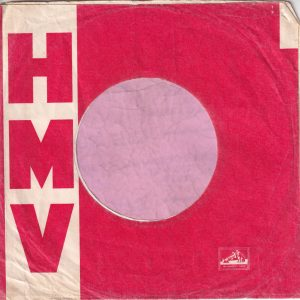 HMV His Masters Voice U.K. Printed Error ' Instruments ' Company Sleeve 1962 – 1964