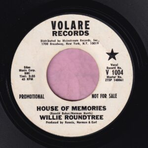 "Willie Roundtree "" House Of Memories "" Volaire Records Demo Vg+"