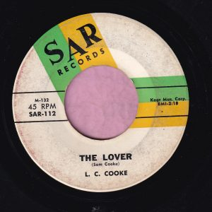 """L.C. Cooke """" The Lover """" / """" Sufferin' """" Sar Records Vg+"""