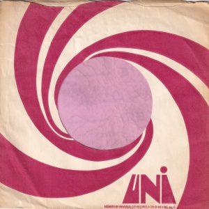 Uni U.K. Small Print Company Sleeve 1970 – 1972