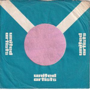 United Artists U.K. Wavy Top Company Sleeve 1968 – 1969
