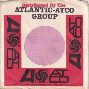 Atlantic Atco Group U.S.A. Address On One Side Printed On Red Bar Company Sleeve 1966 – 1969