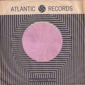 Atlantic Records U.S.A. Black Print On Top Border Company Sleeve 1960-1964